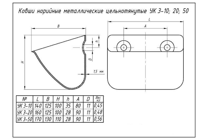 Хопер лопата для штукатурки чертежи