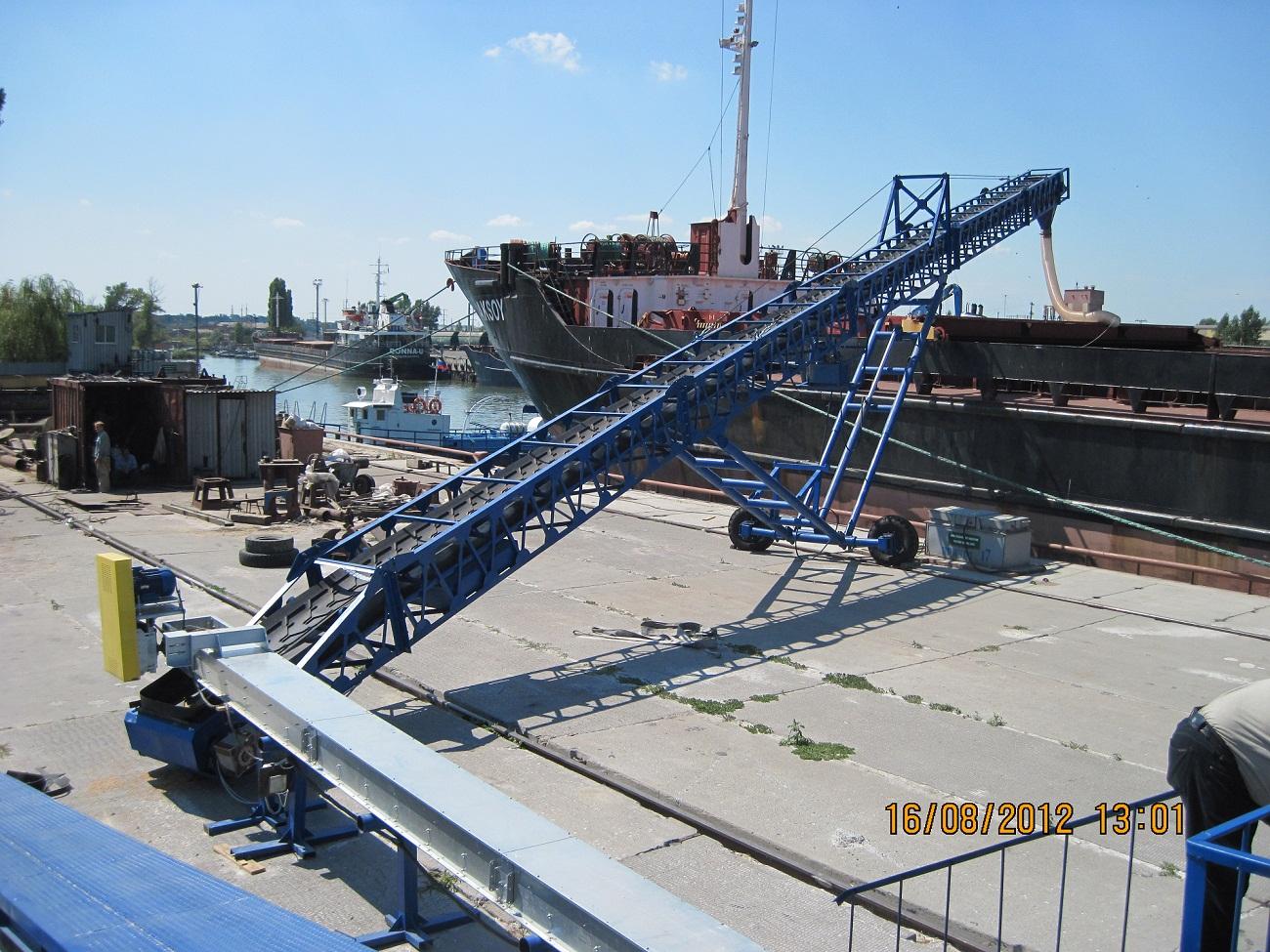 Оборудование для погрузки зерна в судно